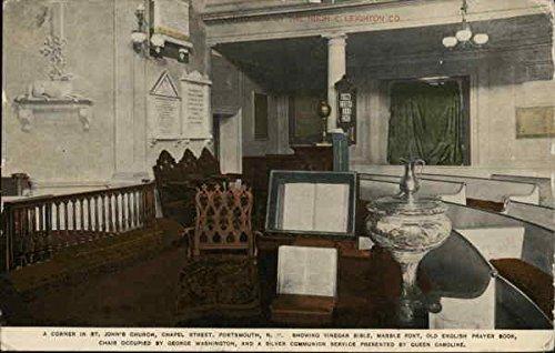 A Corner in St. John's Church, Chapel Street Portsmouth, New Hampshire Original Vintage Postcard
