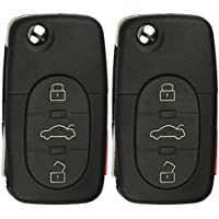 KeylessOption Keyless Entry Remote Control Car Key Fob Replacement for HLO1J0959753F (Pack of 2)