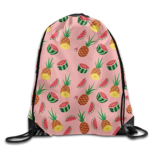 Price comparison product image Fruits Pineapple Watermelon Drawstring Storage Bag Bunched Bag For Men & Women School Travel Backpack