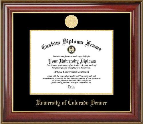 University of Colorado Denver Lynxes - Gold Medallion - Mahogany Gold Trim - Diploma Frame ()