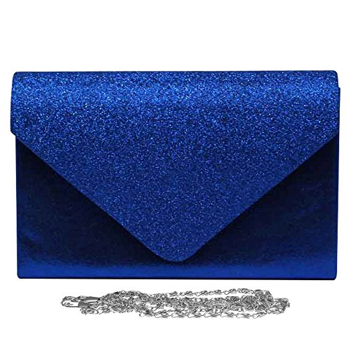 Women Hand Royal Sparkle Girly Blue Glitter Wedding Bag Bag Party Evening Wocharm Stylish Clutch Handbags gwSqHn
