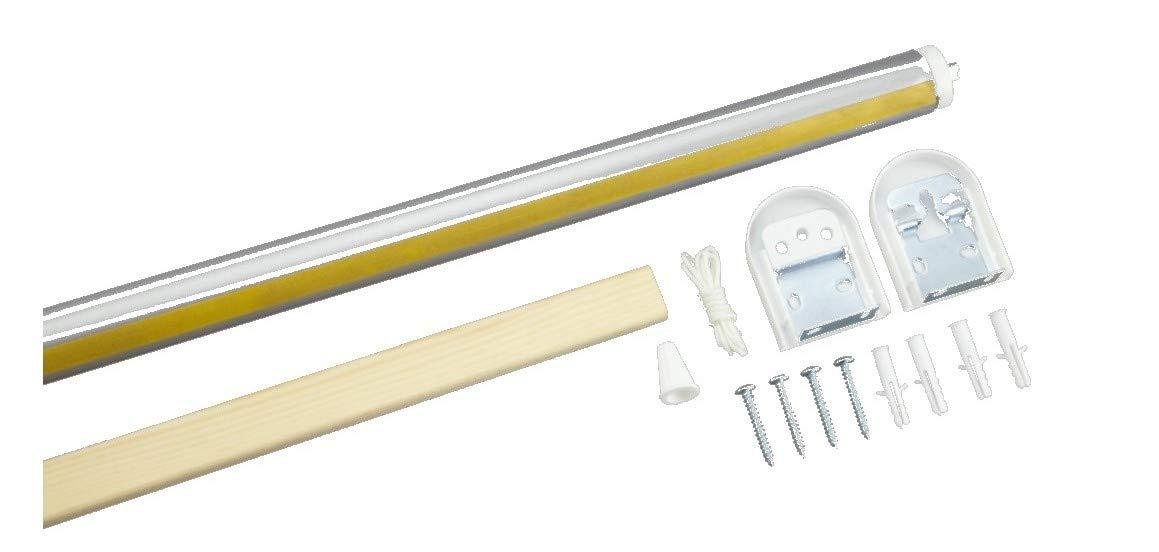 ABC Decor DIY Roller Blind Kit, Spring Loaded Mechanism, Make your own blind kit, (60 cm Wide)