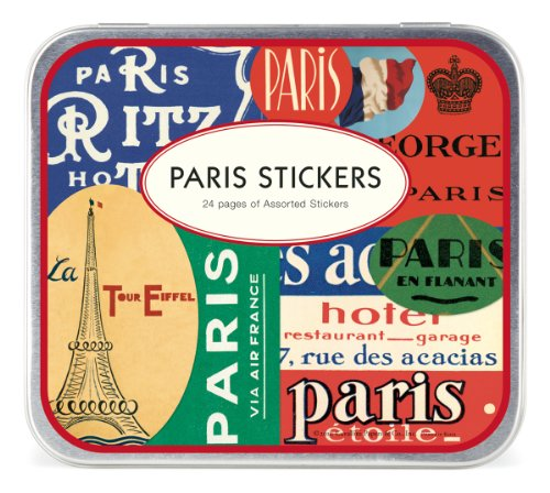 Cavallini Decorative Stickers Paris, Assorted