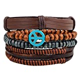 Winter's Secret Peace Symbol Multi Strand Brown Leather - Best Reviews Guide