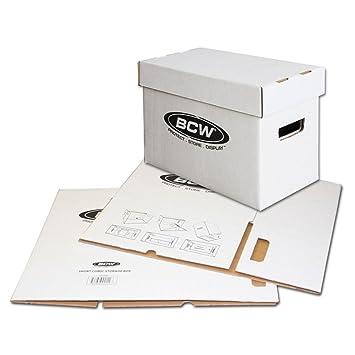 Bundle/10 BCW corto caja cajas de almacenamiento de cartón de cómic, Capacidad para 150 - 175 - cómics: Amazon.es: Oficina y papelería