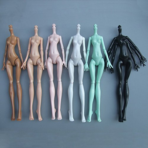 ZHONGJIUYUAN 6 Piece Body for Monster Doll High Different Skin , Doll Accessories for Monster High doll Diy -