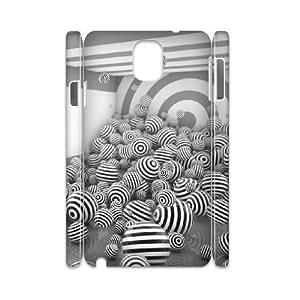3D 3d Sphere 2 Samsung Galaxy Note 3 Cases, Samsung Galaxy Note 3 Case N9005 Men Luxury Bloomingbluerose - White