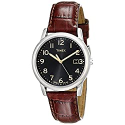 Timex Men's T2N948 South Street Brown Croco Pattern Leather Strap Watch