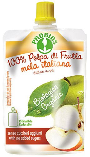 PROBIOS Apfel Puree - 100 Prozent Apfel aus Italien, 9er Pack (9 x 100 g)