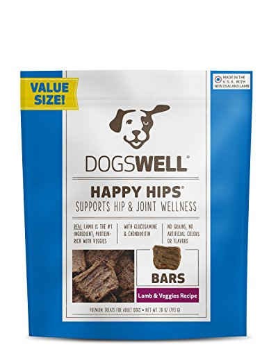 Dogswell Happy Hips Dog Treats, Lamb & Veggies, 28 Ounce -