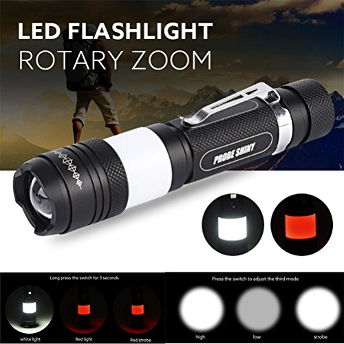[Willsa Tactical LED Flashlight Military Style Zoomable Lamp Light XML T6 G700 X800] (Military Style Dance Costumes)