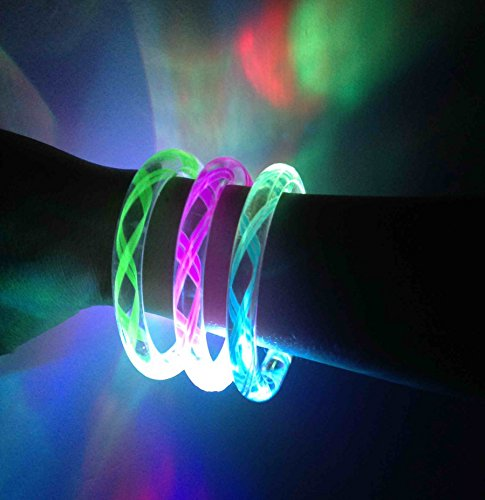 Cofufu 6PCS Fluorescence Stick / Electronic LED Flash Bracelet / Light-Emitting Bracelet + 6 Sets Spare -