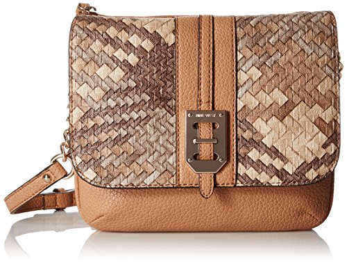 Nine West Gleam Team Aimsey Crossbody, Dark Camel/Camel/Grey/Multi