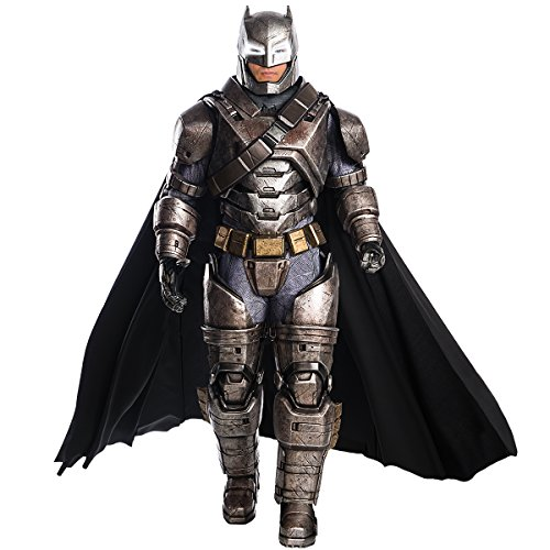 Rubie's Men's Batman v Superman: Dawn of Justice Supreme Edition Armored Batman, Black, (Batman Cosplay Costume For Sale)