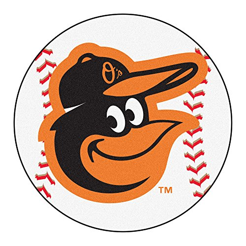 FANMATS 15173 MLB Baltimore Orioles Baseball Mat (Baseball Baltimore Rug Mlb Orioles)