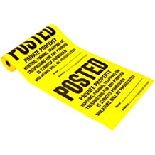 Hy-Ko TSR-100 100 Count Posted Sign Roll
