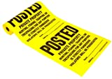 Hy-Ko Products TSR-100 Posted Private Property Tyvek Sign Roll 11