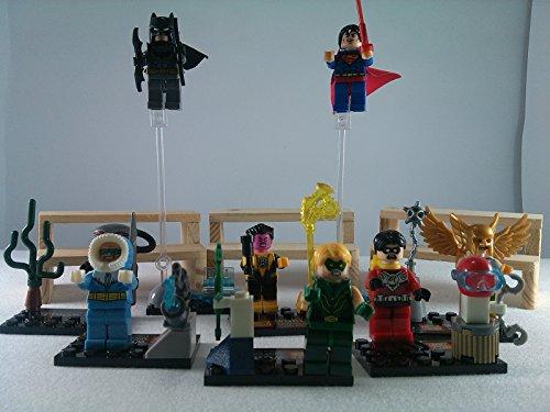 [SUPAK® Batman Green Arrow Hawkman Robin Superman Black Manta Marvel DC MiniFigures Toy Super Heroes Series Action Figure Building Blocks Brikcs Set Compatible] (Gogo Big Hero Six Costume)