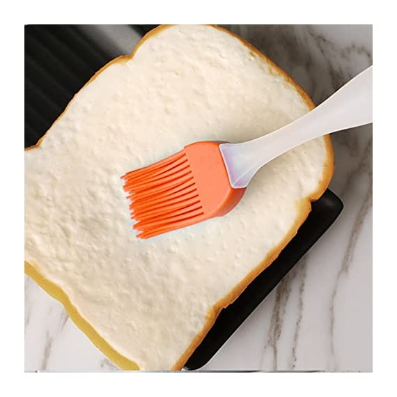 Famecame Pastry Brush Set of 6,Basting Brush,Heavy-duty BBQ Brush - Barbeque Utensil Use For Grilling & Marinating - Desserts Baking(Orange) 5 6PCS ORANGE BASTING BRUSH! - 6.8*1.2*4 Inch High Quality Pastry Brush *6 ,HEAT RESISTANCE FOR BBQ, MARINATING,TURKEY BASTER,DESSERTS BAKING AND SO ON.ENJOY DIY AND BARBECUE WEEKEND WITH FAMILY. Ultra-Soft but Firm Silicone Bristles-USING FOOD GRADE SILICONE.Well Arranged and Dense,it Can Hold Generous Amounts of Liquid to Save the Condiments & Dipping,and Will not Leave Hair to Damage Food. Silicone Basting Brush Handle is Ergonomic Design-USING HIGH QUALITY PP MATERIAL, MATTE SURFACE DESIGN,NON-SLIP,SOLID AND LIGHTWEIGHT,CAN BE USED MORE SMOOTHL.the Handle Can be hung to Save the Kitchen Space.