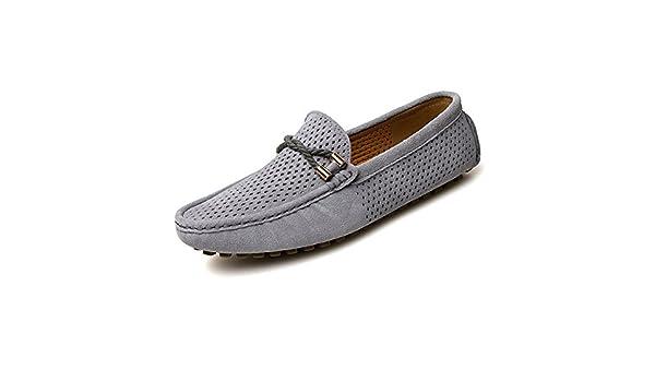 Otprdirect Mocasines de conducción para Hombres Perforación Transpirable Cuero Genuino Vamp Penny Mocasines Mocasines de Negocios de Moda Zapatos Slip on ...