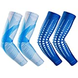 RoryTory Cooling Arm Elbow Compression Sleeve Sun Guard - For Women, Men, Kid & Youth - For Outdoor Cycling Golfing Basketball Baseball Tennis Soccer Lymphedema - 2 Pairs Various Designs