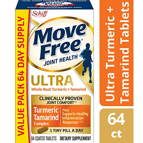 Move Free Turmeric & Tamarind Ultra Joint Health Supplement, (60 + 4 Free) Count Tablets (The Best Joint Health Supplements)