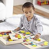 Melissa & Doug Personalized Pattern Blocks & Boards Classic Toy
