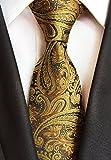 Secdtie Mens Paisley Jacquard Woven Silk Tie Luxury Formal Party Suit Necktie