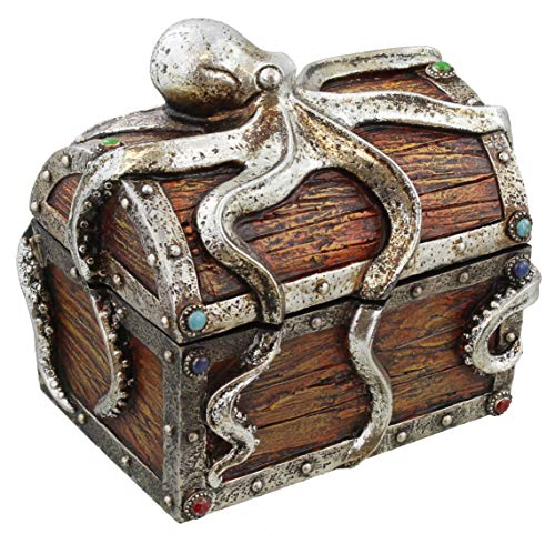 - DeLeon Collections Guardian Octopus On Deep See Treasure Chest Trinket Box