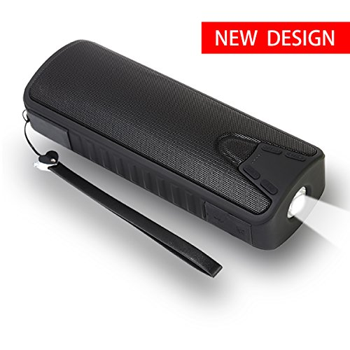 HASSKY Bluetooth Outdoor Speaker,Traveler Portable Wireless Bluetooth Speakers with 10W LED Flashlight and 4000mAh PowerBank,12H Playtime,Handsfree,Perfect for Outdoor