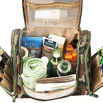 SunKni Portable Toiletry Bag Wash Bag Bathroom Hanging Bag Travel Bag  Zipper Storage Bag Drawer Dividers. Loading images. 5b6bc9eb427b6