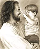 Innocence 8''x10'' Wall Art Print Jesus Christ Holding Child by David Bowman Religious Spiritual Christian Fine Art