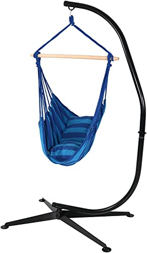 Sunnydaze Hanging Rope Hammock Chair Swing