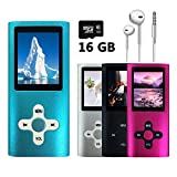 VOLGER 16GB MP3 MP4 Player Energy Saving Music Player Voice Recorder FM Radio Video Player Photo Viewer E-book Viewer for Running Camping (Blue)