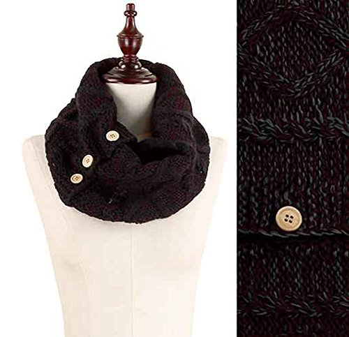 StylesILove Diamond Cable Womens Scarf Knit Tube with But...