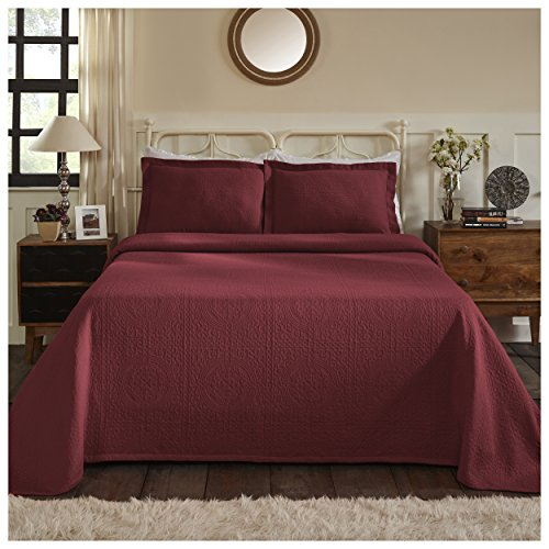 red quilted coverlet - 4