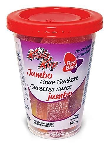 CDM product Koala Kup Jumbo Sour Suckers Gummy Candy (Case of 12 -140g Kups) big image