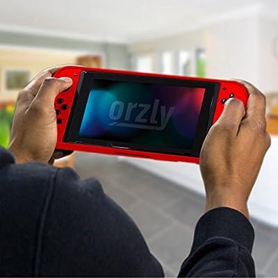 Orzly Funda Comfort Grip Case para la Nintendo Switch – Carcasa Protectora con puños de Mano Rellenos Integrados para la Parte Posterior de la Consola Nintendo Switch en su Modo Gamepad: Amazon.es:
