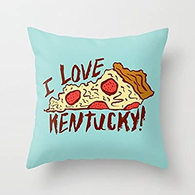 "Decorative Pillow Case I Love Kentucky Cushion Cover 18"" x 18"""