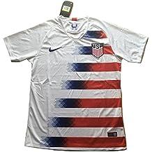 Simeonka-Hrisy Men's USA National Team 2018-2019 Home Soccer Jersey White
