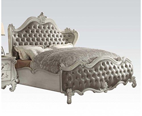 ACME Versailles Bone White Eastern King Bed For Sale