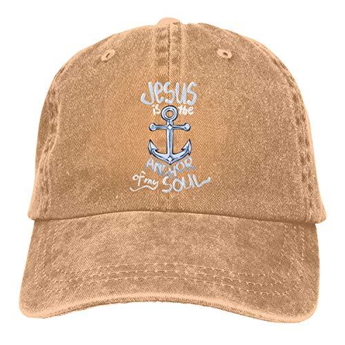 Jesus is The Anchor of My Soul Dad Denim Hats Vintage Baseball Caps Adjustable ()