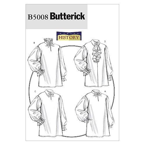 Renaissance Shirt Pattern (BUTTERICK PATTERNS B5008 Misses'/Men's Shirt, Size XN (XLG-XXL-XXXL))