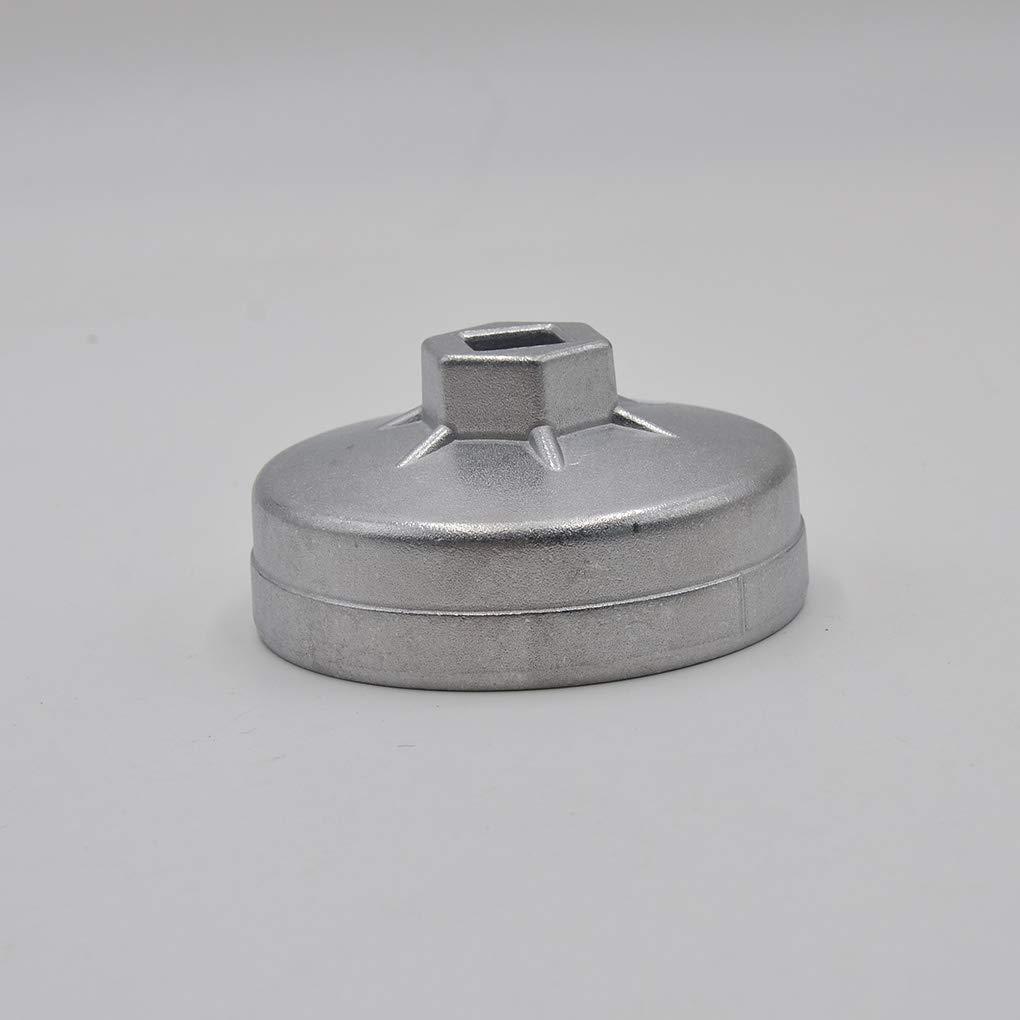PRENKIN Reemplazo para Mercedes Benz 74mm 14 Filtro de Aceite de Aluminio Flauta Llave de Cubo Herramienta del removedor Accesorios del Coche