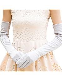 Nappaglo Women's Long Sunscreen Driving Gloves Touchscreen Cotton for Outdoor