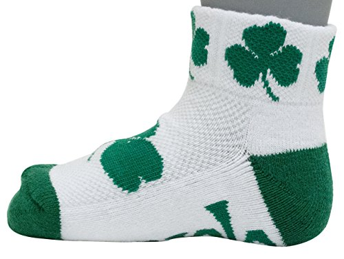 (Donegal Bay NCAA Notre Dame Fighting Irish Youth QTR Socks, Green, 3-5 Years)