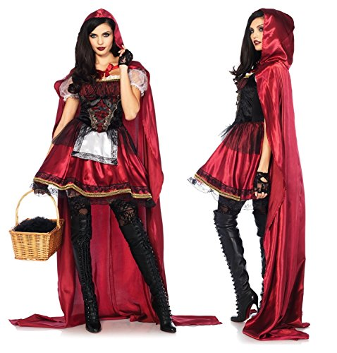 Leg Avenue Women's Captivating Miss Red Riding Hood Costume, Small ()