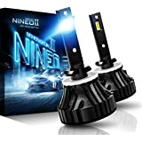 NINEO 880 LED Fog Light Bulbs CREE Chips,12000Lm 5090Lux 6500K Extremely Bright All-in-One Conversion Kit,360 Degree Adjustable Beam Angle