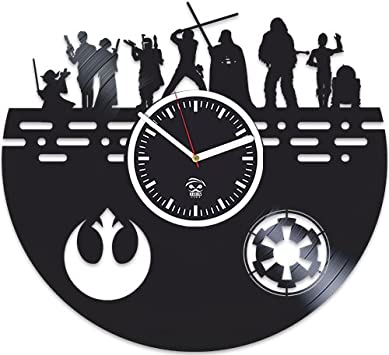 Amazon.com: Kovides Star Wars - Reloj de pared de vinilo ...