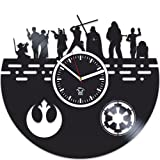 Kovides Star Wars Gift, Vinyl Wall Clock, Vinyl Record Clock, Srar Wars Clock, Gift For Man, Birthday Gift, Star Wars, Darth Vader Gift, Best Gift for Boyfriend, Gift For Kids, Wall Clock Large For Sale